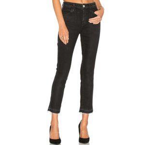 AMO Babe Button Fly Jeans in Jett Black